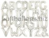 Große Buchstaben, Silber, 100 cm, inklusive Helium-Ballongas