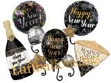 Luftballons aus Folie zu Silvester