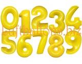 Große Zahlen, Gelb, 100 cm, inklusive Helium-Ballongas
