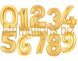 Große Zahlen, Gold, 100 cm, inklusive Helium-Ballongas
