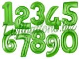 Zahlen in Grün, Jumbo Luftballons aus Folie