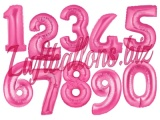 Zahlen in Pink, Jumbo Luftballons aus Folie