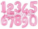 Große Zahlen, Rosa, 100 cm, inklusive Helium-Ballongas