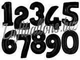 Zahlen in Schwarz, Jumbo Luftballons aus Folie