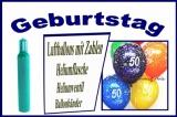 Luftballons Helium Sets Geburtstag, Mehrweg-Ballongasflaschen
