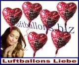 Luftballons der Liebe, schwebende Liebesgeschenke mit Helium
