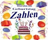 Geburtstag Dekoration Geburtstagszahlen