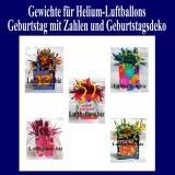 Gewichte für Helium-Luftballons, Ballongewichte in Form von Geschenktütchen
