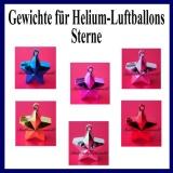 Gewichte für Helium-Luftballons, Sterne