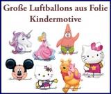 Große Luftballons aus Folie, Kindermotive