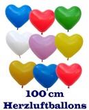 Herzluftballons in 100 cm