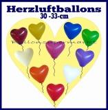 Herzluftballons, 30-33 cm