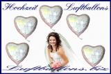 Luftballons aus Folie zur Hochzeit, Hochzeitsballone mit Helium