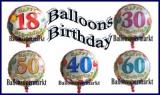 Balloons Birthday, 45 cm Geburtstags-Luftballons mit Zahlen