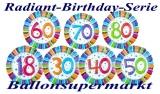 Radiant Birthday, 45 cm Geburtstag-Luftballons mit Zahlen