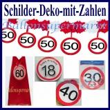 Geburtstag Schilder-Dekoration