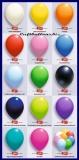 Deko Luftballons Serie 2 Standardfarben, 75/85 cm