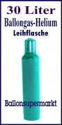 Ballongas 30 Liter, Helium 4.6, Leihflasche, Abholung