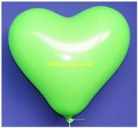 Grüne Herzluftballons, 40 cm, 10 Stück