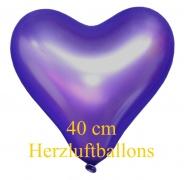 Violettfarbene Herzluftballons, 40 cm, 10 Stück