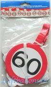 Geburtstag-Dekoration, Girlande mit hängenden Zahlenschildern, 60. Geburtstag