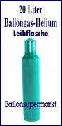 Ballongas 20 Liter, Helium 4.6, Leihflasche, Abholung