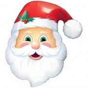Luftballon zu Weihnachten, Weihnachtsmann mit Mütze, Weihnachtsballon