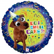 Smell Cake, Folien-Luftballon mit Helium zum Geburtstag, Google Eyes