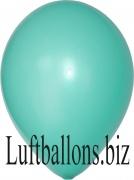 Luftballons Metallic, Mintgrün, 100 Stück, 30 cm