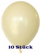 Deko-Luftballons, Standardfarben, Elfenbein, 28-30 cm, 10 Stück