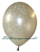 Hochzeits-Luftballons, Just Married, Silber, 25 Stück