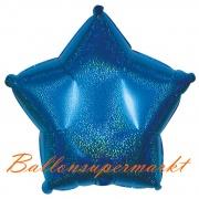 Sternballon, Luftballon aus Folie, Stern, 45 cm, Blau, Holografisch