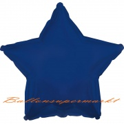 Sternballon, Luftballon aus Folie, Stern, 45 cm, Marineblau
