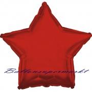 Sternballon, Luftballon aus Folie, Stern, 45 cm, Rot