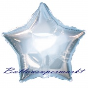 Sternballon, Luftballon aus Folie, Stern, 45 cm, Silber