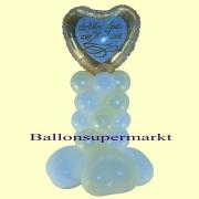 Ballondeko-Hochzeit, Alles Gute, Tischdekorationen, 6 Stück, Gold