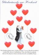Ballonflugkarte Hochzeit, Glückwünsche zur Hochzeit