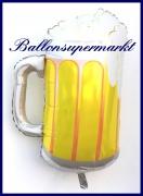 Bierkrug, Deko-Luftballon aus Folie