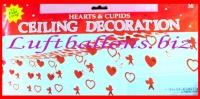 Himmel der Liebe, Herzen und Amoretten, Partydekoration mit Herz