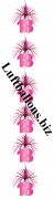 Geburtstag-Dekoration, Zahlendeko-Kette, 18. Geburtstag, Pink