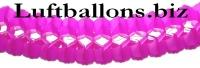 Girlande, Party- und Festdekoration, Seidenpapiergirlande, Pink-Cerise, 4 Meter