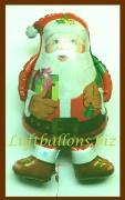 Weihnachtsmann mit Geschenk, Luftballon mit Helium, Nikolaus, Weihnachtsballon