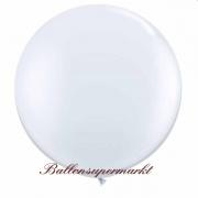 Riesenballon, Riesen-Luftballon, Weiß, 90-100 cm