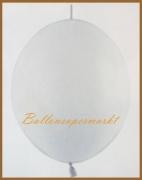 Girlanden-Luftballons, Weiß, 50 Stück