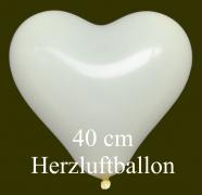 Elfenbeinfarbene Herzluftballons, 40 cm, 50 Stück