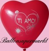 Luftballons Liebe, Herzluftballons Ti Amo, 50 Stück