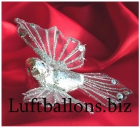 Tischdekoration und Hochzeitstdekoration, Hochzeitstaube in Silber