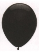 Luftballons, Farbe Schwarz, Größe 30 cm, 10 Stück