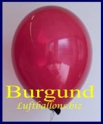 Luftballons, Rundballons in 25 cm, Burgund, 100 Stück