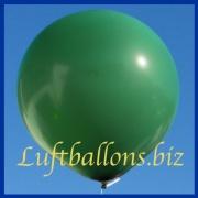 Großer Luftballon, Rund, 48-51 cm, Farbe Dunkelgrün